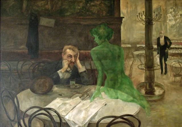 """Виктор Олива """"Пьющий абсент"""". 1901г."""