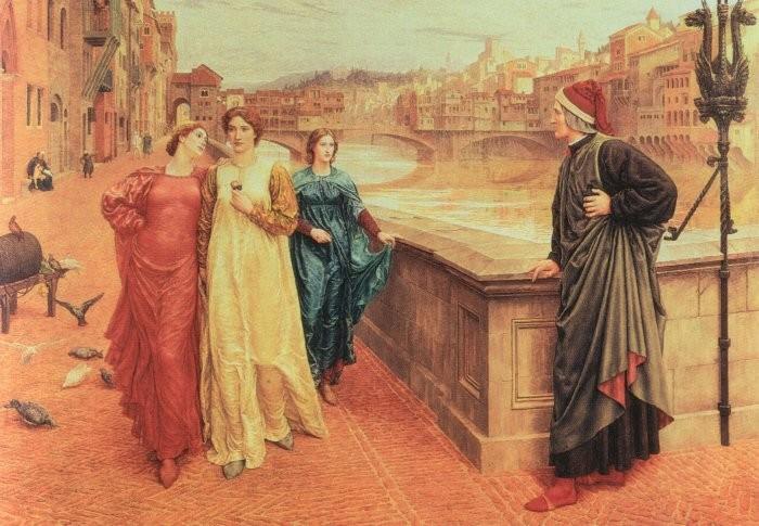 """Генри Холидей, картина """"Данте и Беатриче"""""""