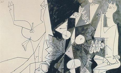 рисунки Пикассо в Антибе