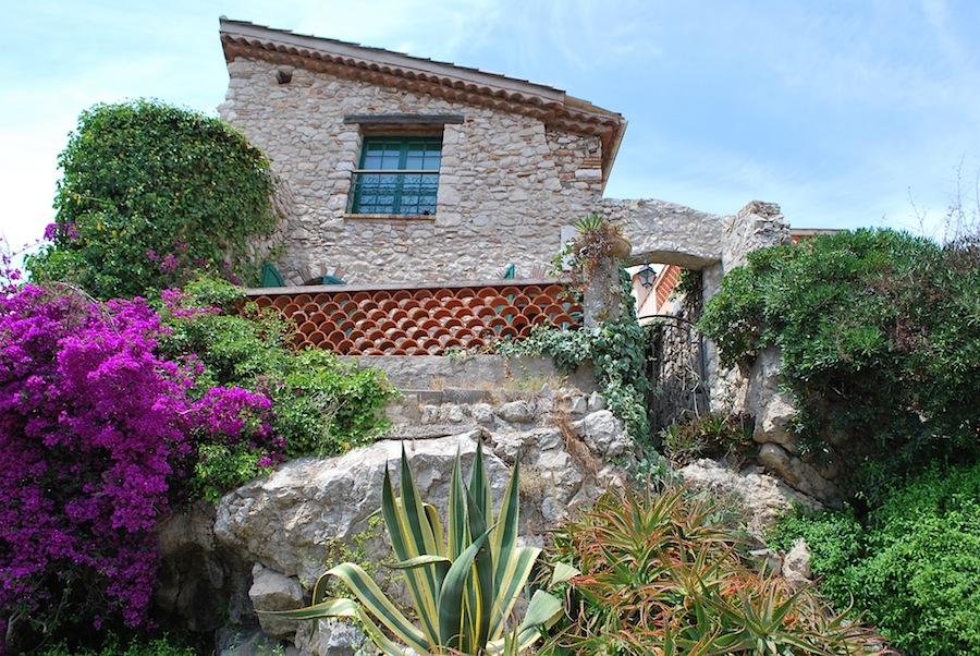кактусы и цветы в Старом городе, Антиб (Antibes)