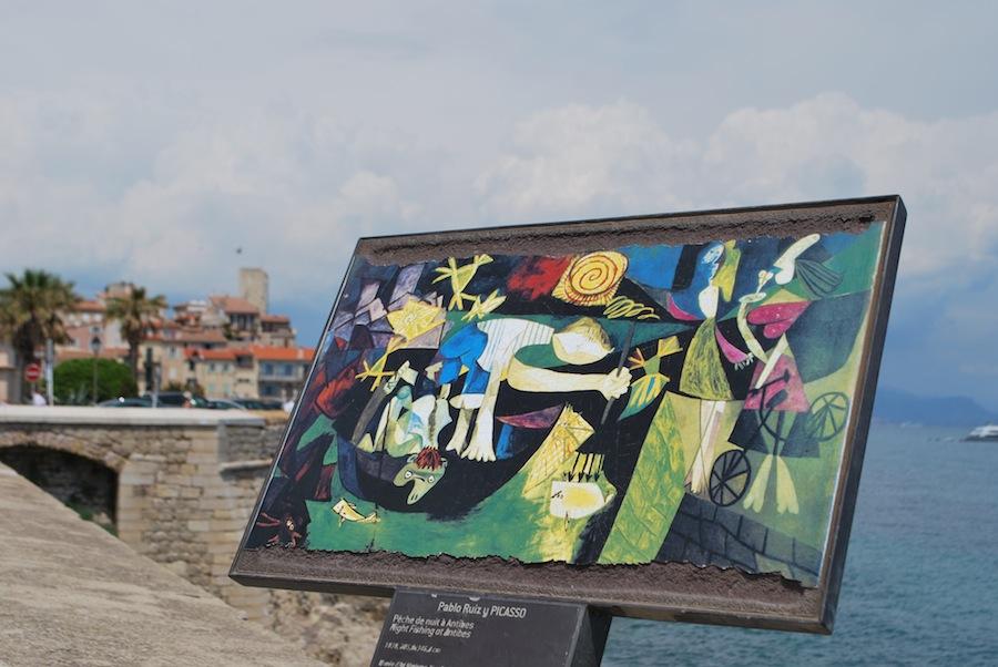 """репродукция картины """"Ночная рыбалка в Антибах"""" Пабло Пикассо"""