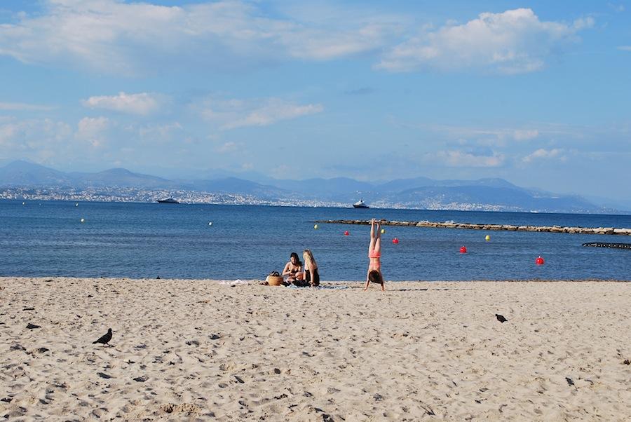общественный пляж, Антиб