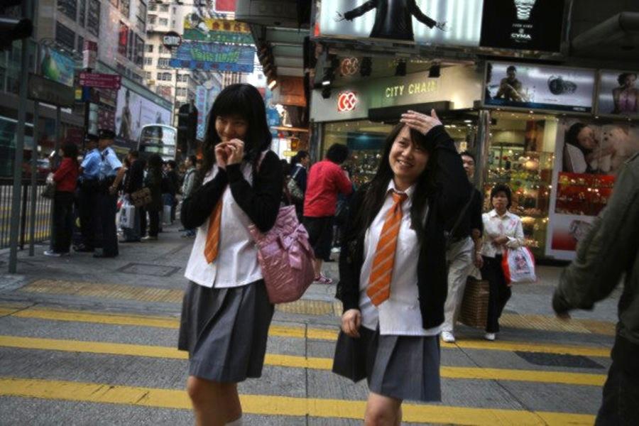 гонконгские школьницы