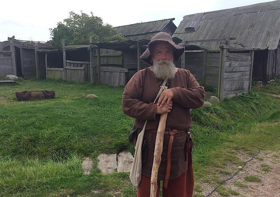сказитель в деревне викингов деревня Foteviking