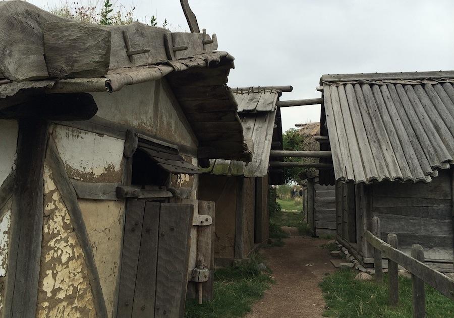 улочка деревни викингов