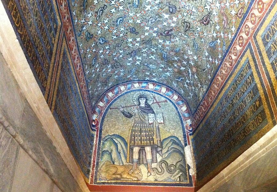мозаика Христос-воин, Равенна