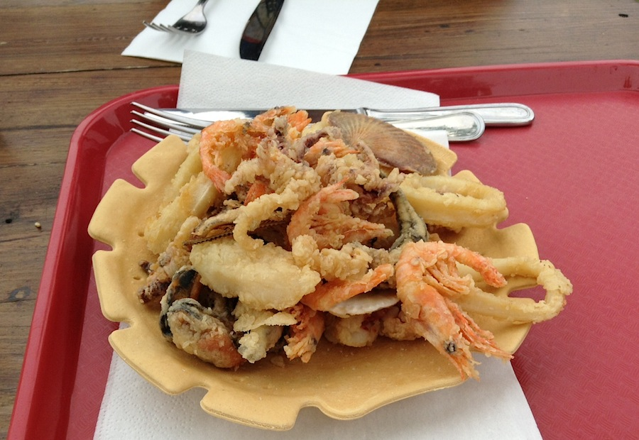 морепродукты во фритюре
