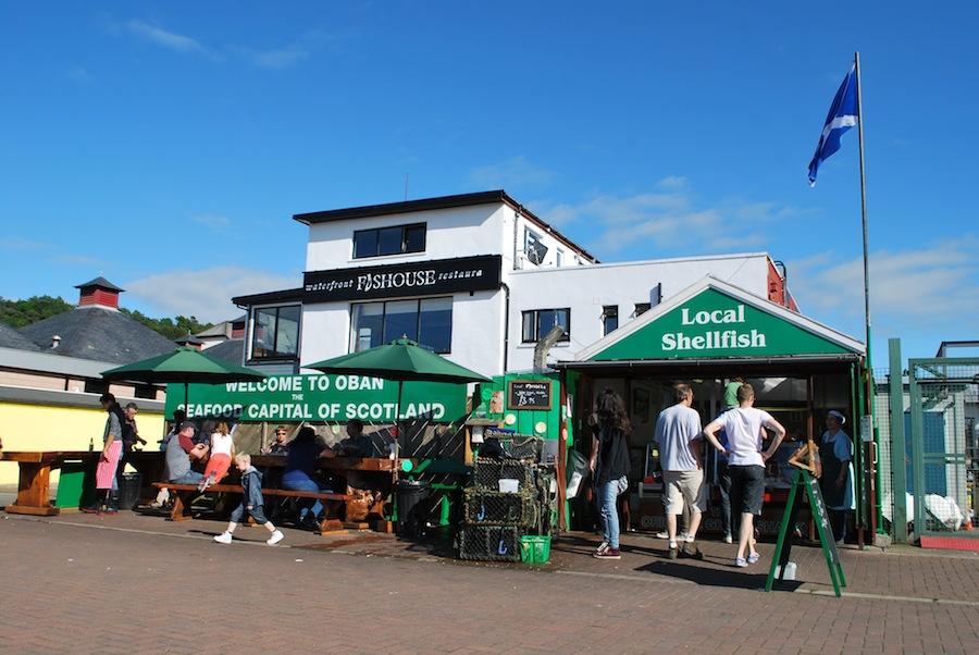 уличный ресторан Oban Seafood Hut