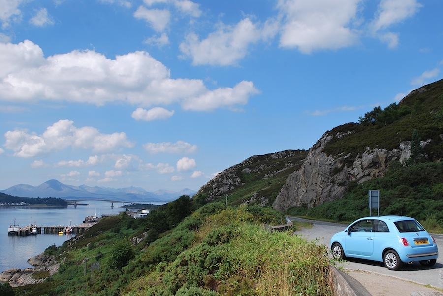 Шотландия, Fiat 500