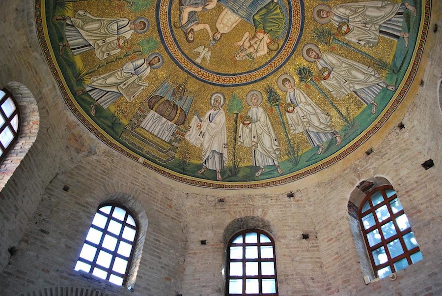 Баптистерий арианцев, мозаика, Равенна
