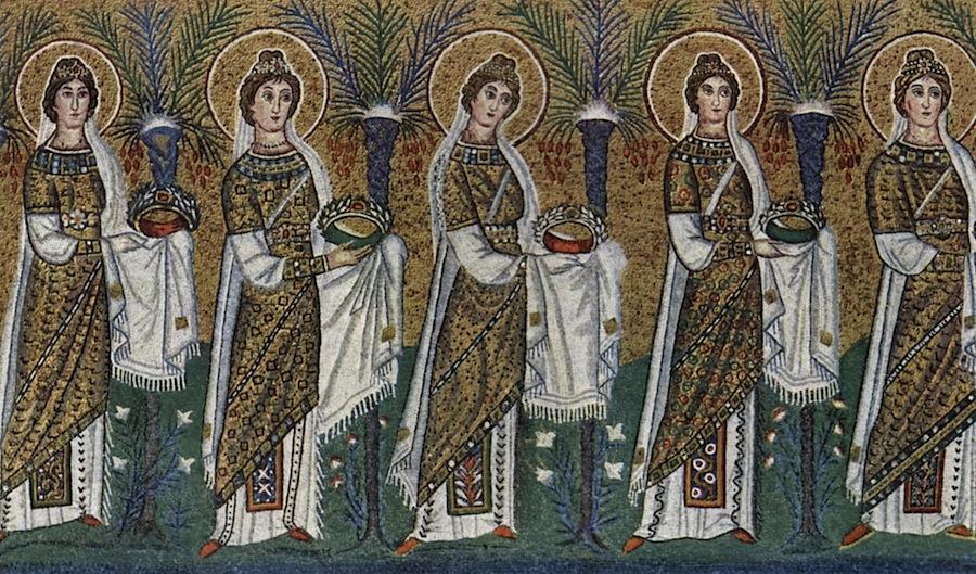 святые девы, мозаика в Sant'Apollinare Nuovo