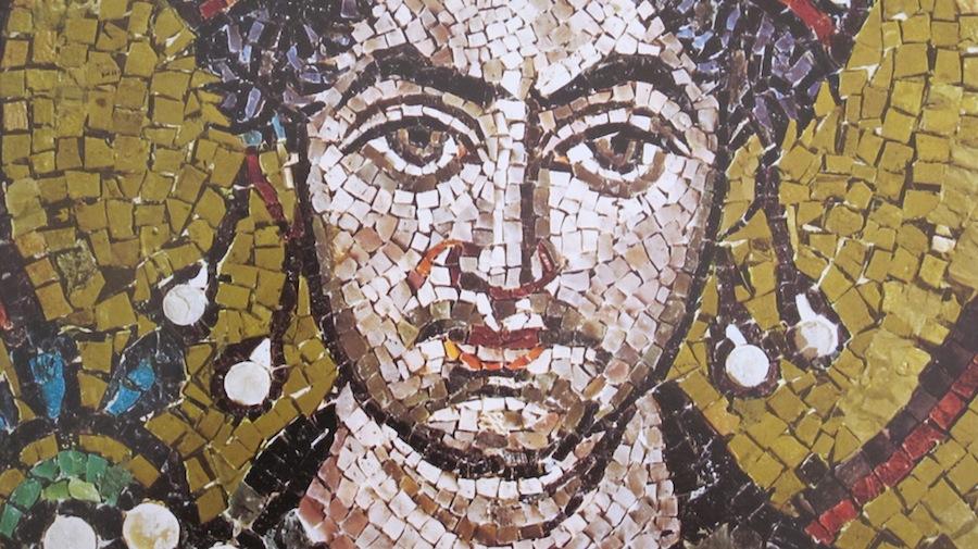 мозаика с портретом императора Юстиниана, Сан-Витале, Равенна