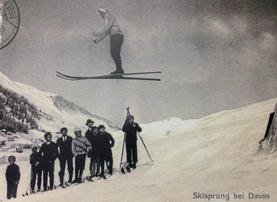 прыжок на горных лыжах, Давос, 1913 год