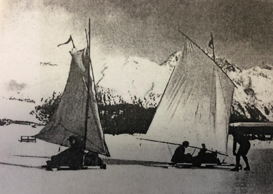 зимняя парусная регата в Швейцарии, 1904 год