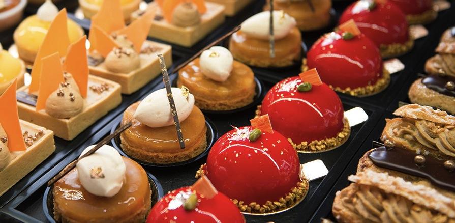 сладости в кафе Zurcher