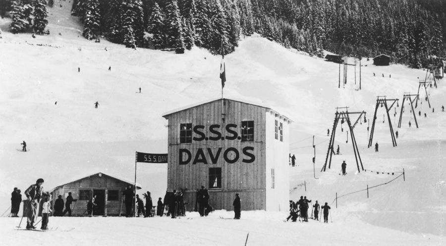 Подъемник в Давосе, 1933 год