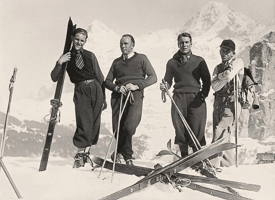 горные лыжи, начало двадцатого века