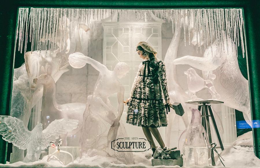 витрина, символизирующая скульптуру