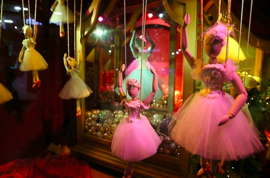 марионетки, витрины, Нью-Йорк, Рождество