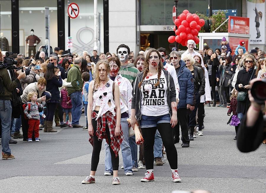 зомби-танцы в Дублине