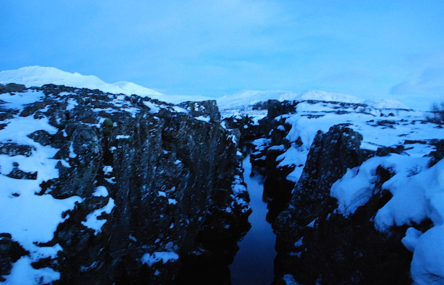 разлом плит, Исландия