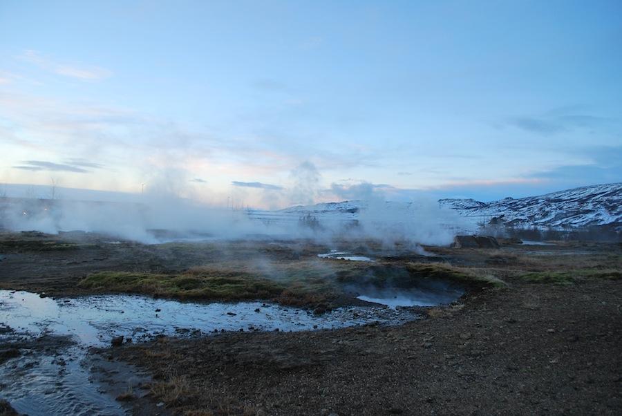 горячие источники, Долина гейзеров, Исландия