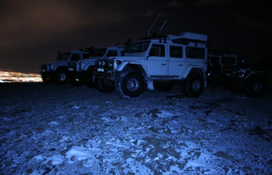 джип, снег, Исландия