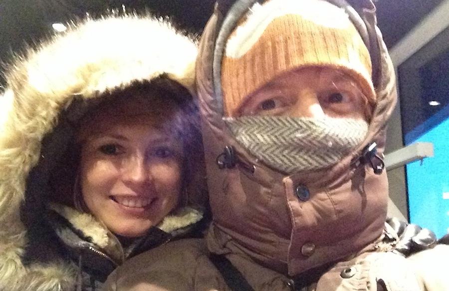 вот так мы спасались от холодного ветра