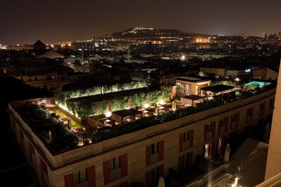 Вид на крышу отеля