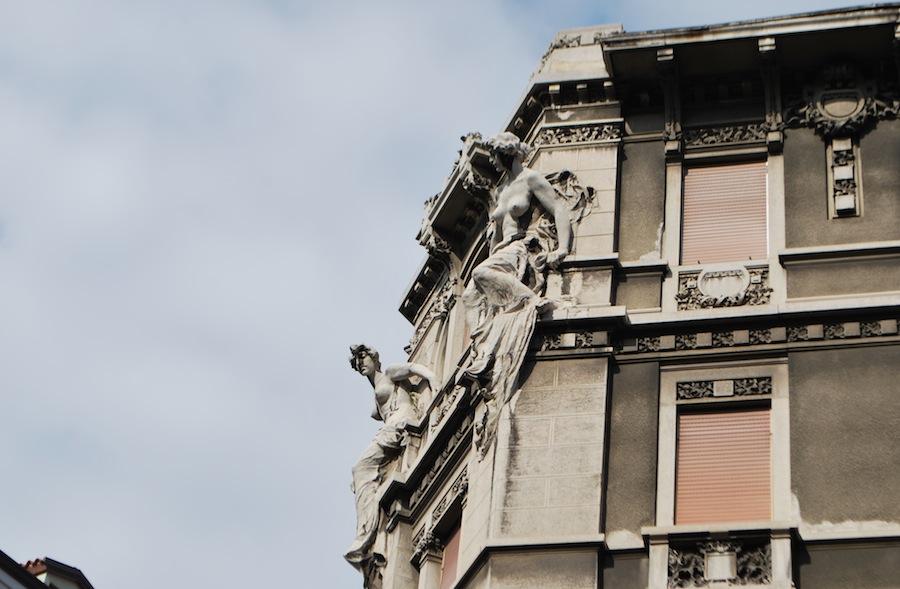 статуи, Триест, Италия, архитектура