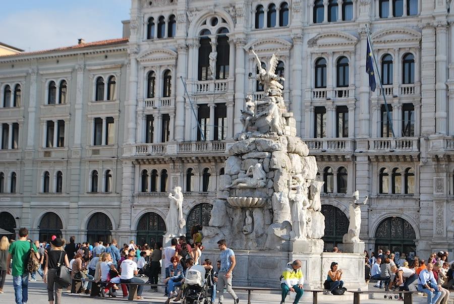 фонтан четырех континентов, Триест