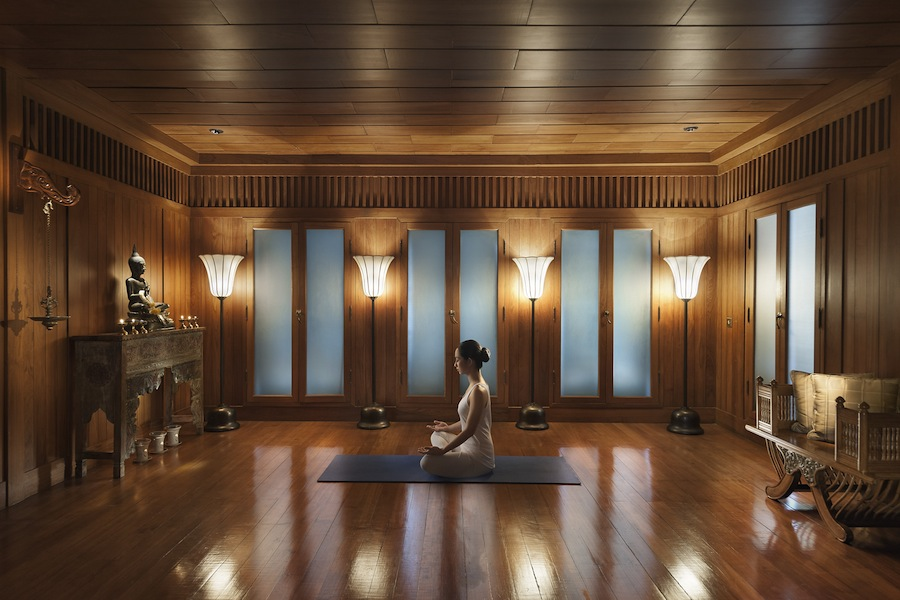 Yoga at The Oriental Spa, Бангкок. Йога