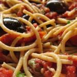 Spaghetti alla puttanesca: рецепт в графике
