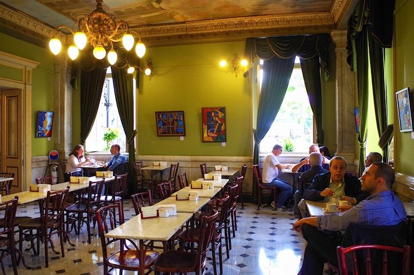 Коста-Рика, Сан-Хосе, кафе Национального театра