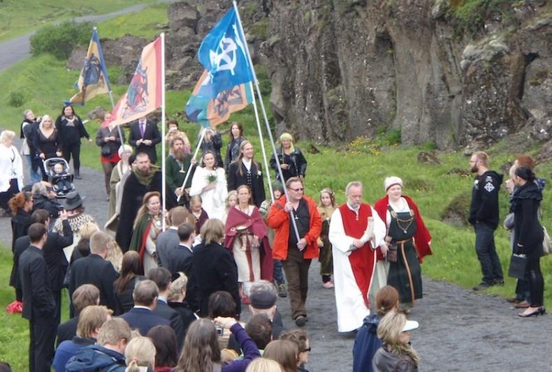неоязыческая свадьба в Исландии
