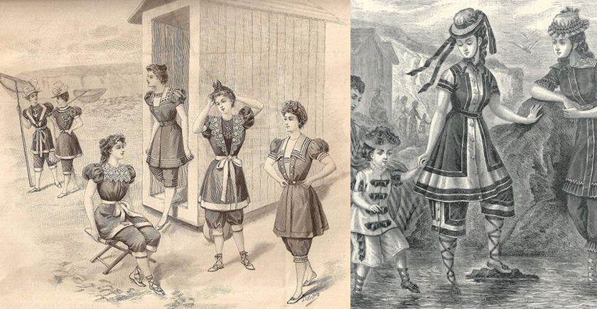пляжные костюмы, викторианство