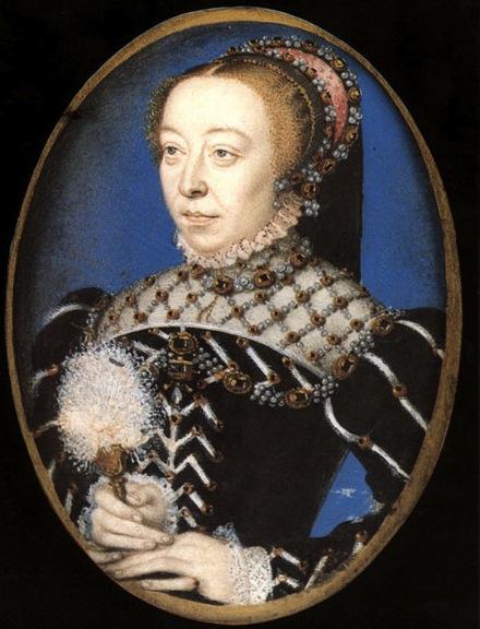 Портрет Екатерины Медичи, Франсуа Клуэ,1555 год
