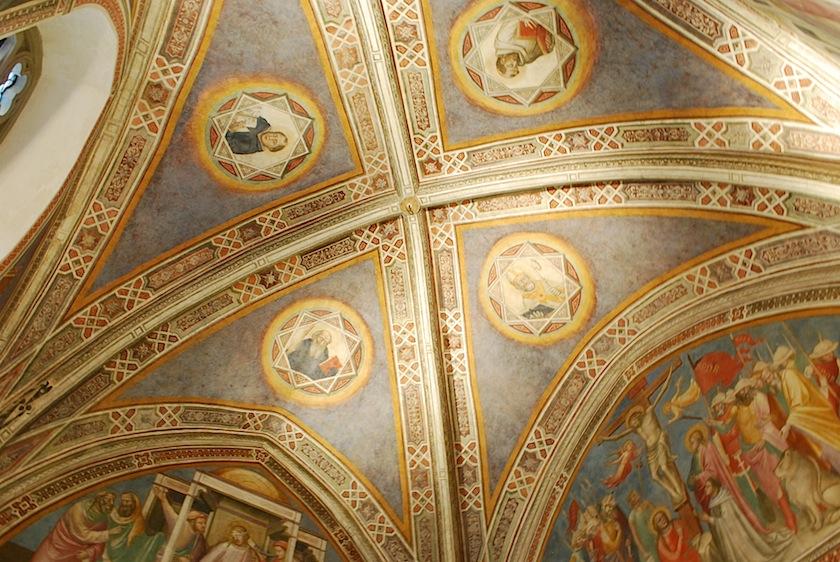 фреска на потолке Santa Maria Novella с изображением Евангелистов