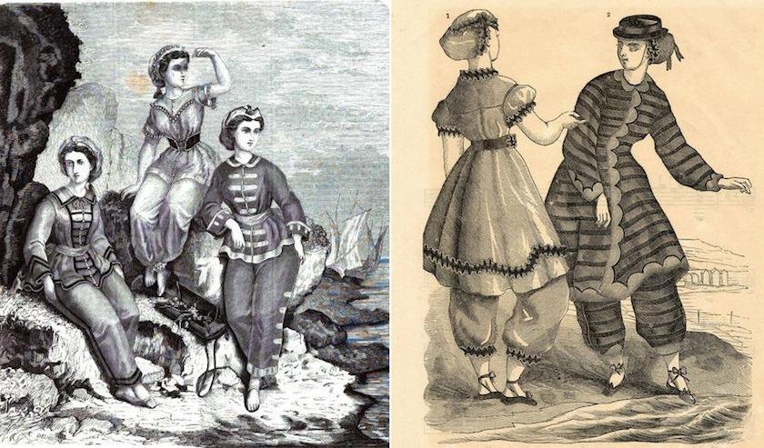 купальные костюмы 1864 года