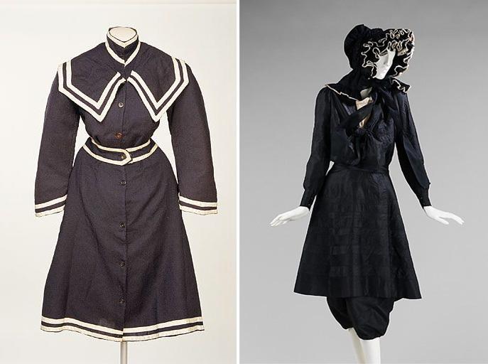 купальные костюмы 1890-1895 гг