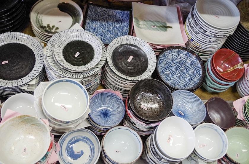 Магазин керамики в Цукидзи, Токио