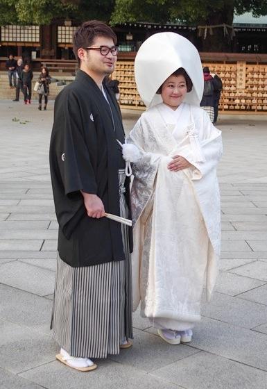 японская свадьба, Мэйдзи, жених и невеста, Япония