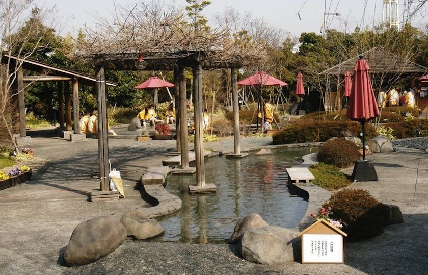 Япония, Сад Ooedo-Onsen на острове Одайба