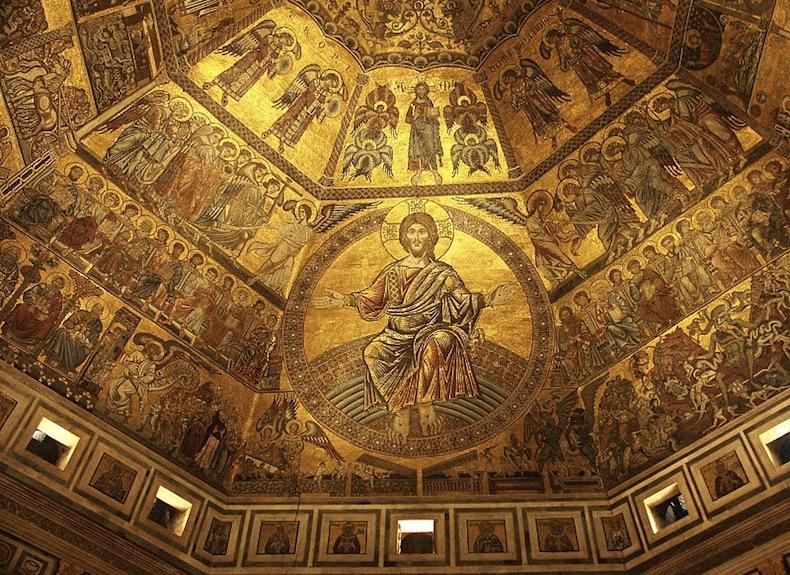 мозаика на куполе баптистерия во Флоренции