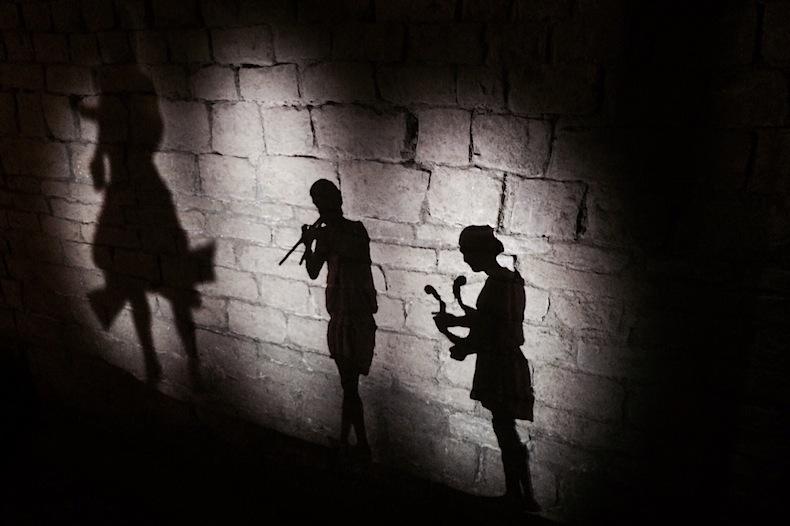 театр теней на руинах древнеримского театра, палаццо Веккьо palazzo vecchio Firenze, Florence, Флоренция
