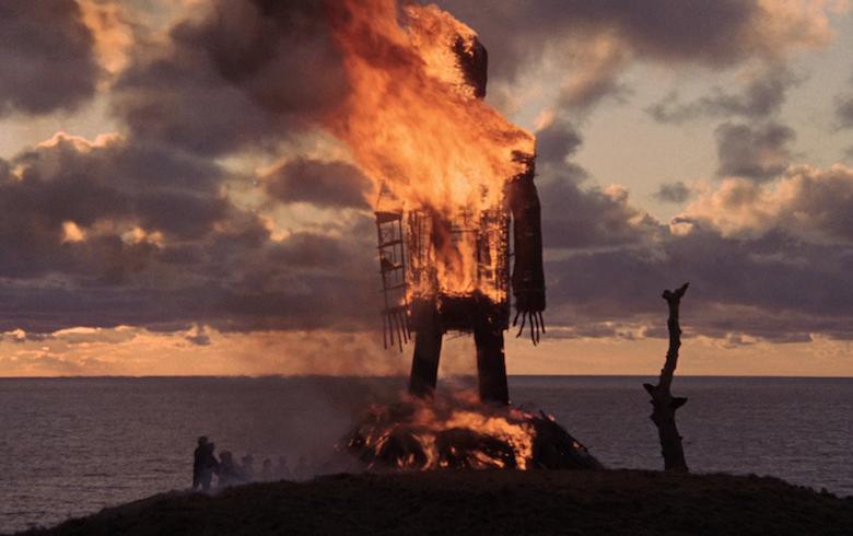 """Кадр из фильма """"Плетеный человек"""" 1973 года"""