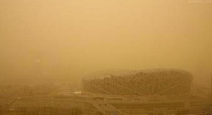 песчаная буря в Пекине