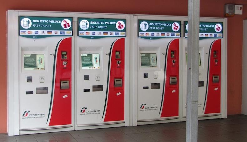 автоматы для продажи билетов на станция