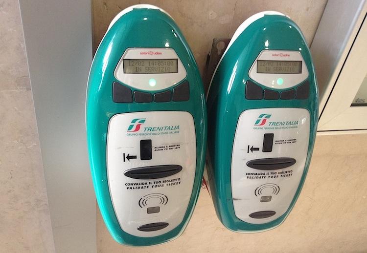 итальянские автоматы для компостирования билетов