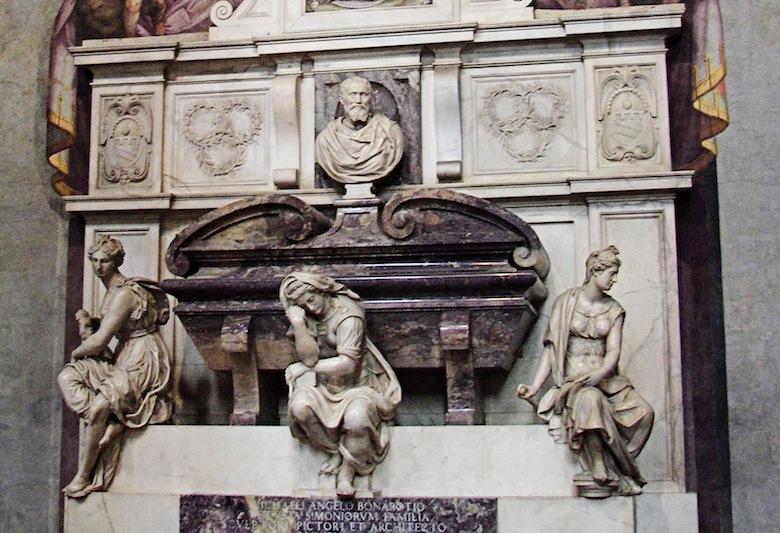 Michelangelo's_grave4-1, гробница Микеланджело в Санта-Кроче